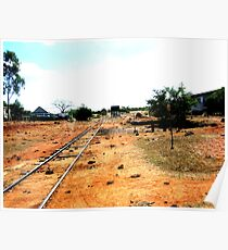 Outback Country Rail Line Poster
