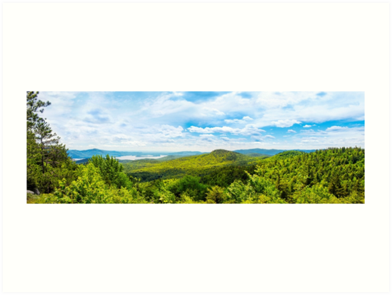 Adirondack Mountains Panoramic Landscape by Christina Rollo