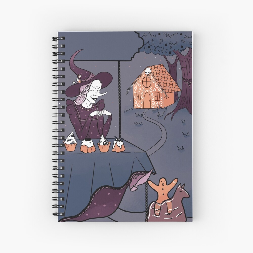 Funny witch Spiral Notebook