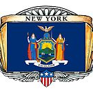 New York Art Deco Design with Flag by Cleave