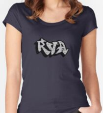 RVA Logo - Graffiti on White Wall Women's Fitted Scoop T-Shirt
