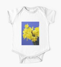 Yellow Daffodils One Piece - Short Sleeve