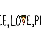 Peace, Love, Pizza by GriffyGallery