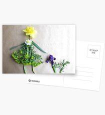 Daffodil with her scottie dog, Iris Postcards