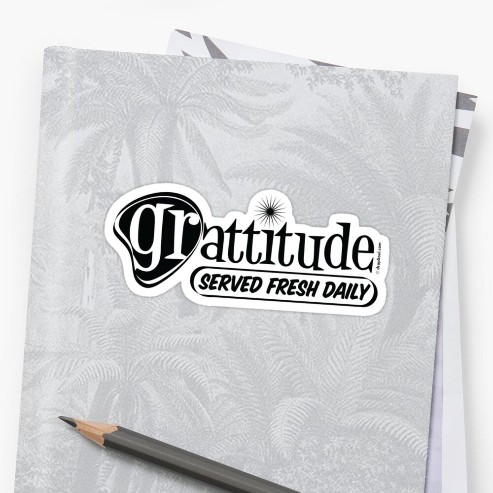 Grattitude (Attitude of Gratitude) Genuine Fake Retro Coolness by dropSoul
