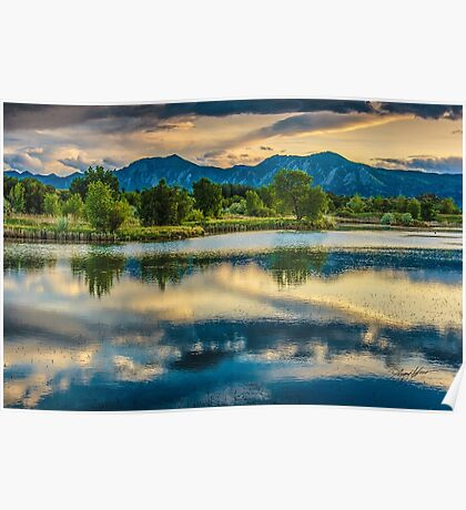 Sawhill Ponds Sunset Poster