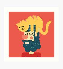 Cats send Art Print