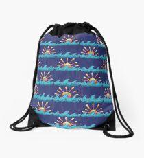 Sunset Surf Drawstring Bag