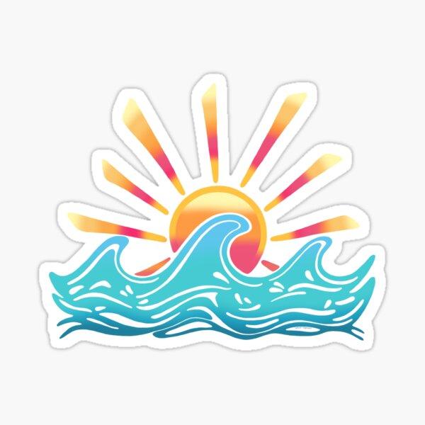 Sunrise Surf Sticker
