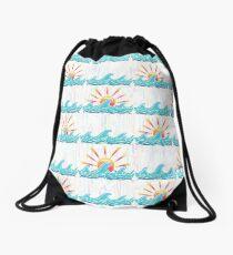 Sunrise Surf Drawstring Bag