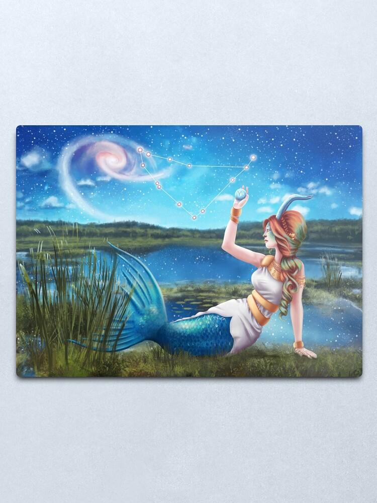 Alternate view of Capricorn OC - 12 Zodiac Ladies Metal Print