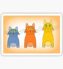 Three Little Cats Sticker