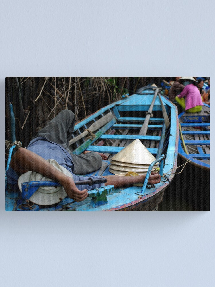 Alternate view of Sleeping Down by the Canal Canvas Print