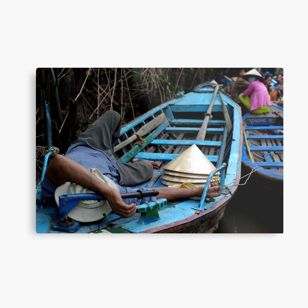 Sleeping Down by the Canal Metal Print