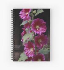 Pink Trumpet Flower Vine Spiral Notebook