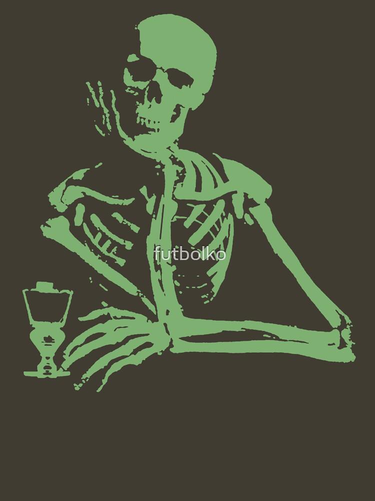 Quot Absinthe Skeleton Grean Quot T Shirt By Futbolko Redbubble