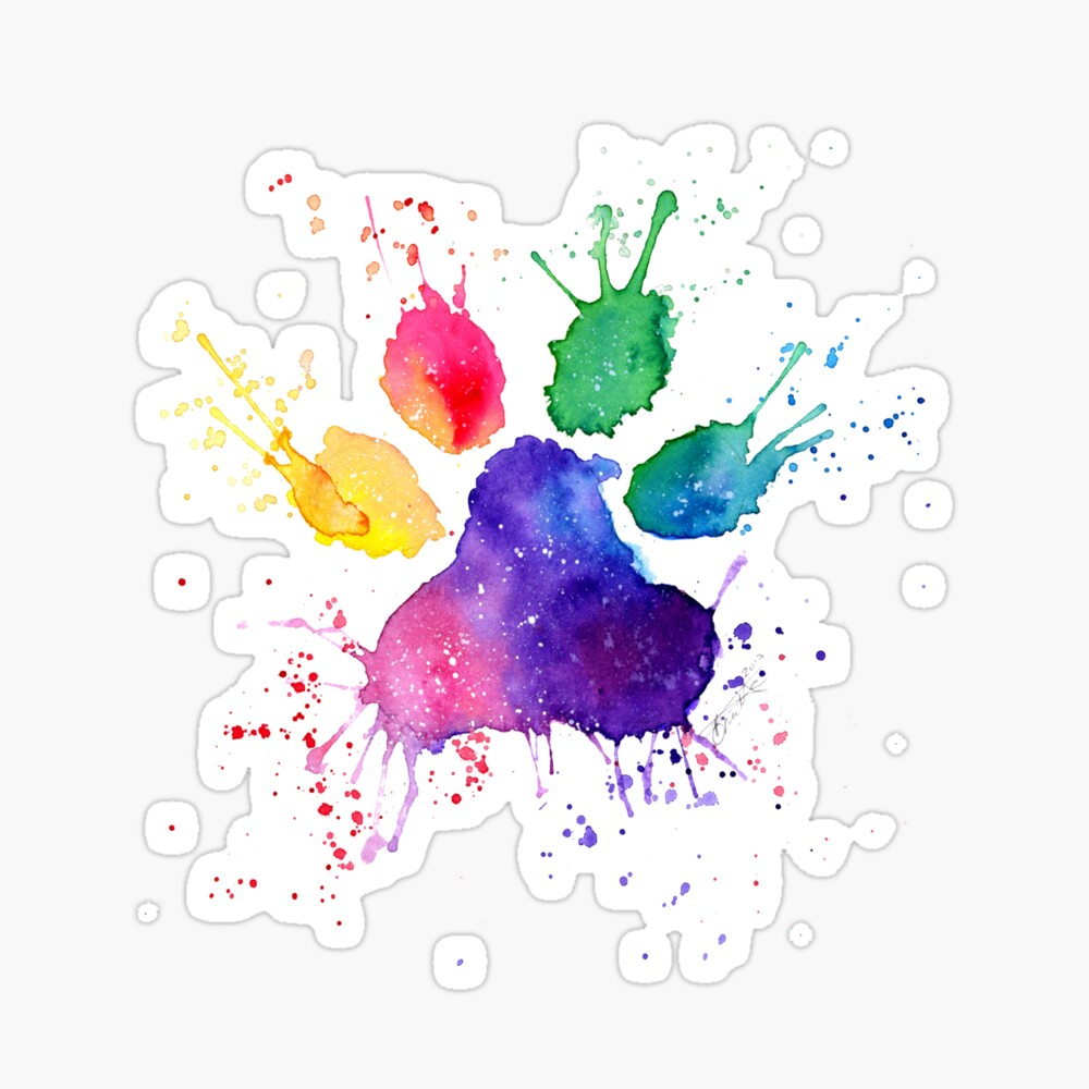Paw print rainbow. Bridge sticker by bonnitadoodles