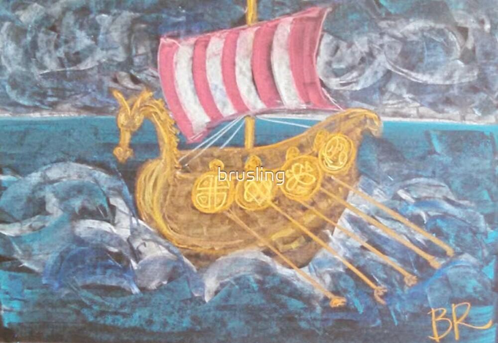 Viking Ship by brusling