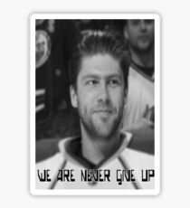 We Are Never Give Up Sticker