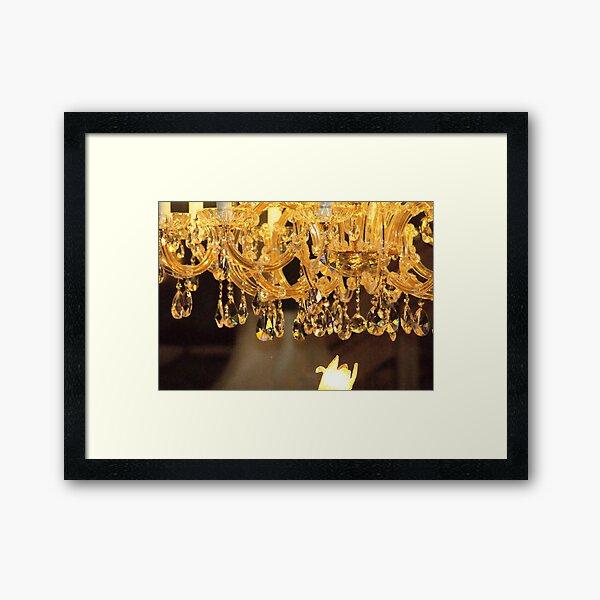Crystal Chandelier Framed Art Print