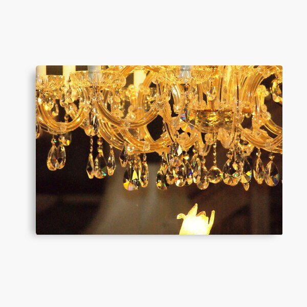 Crystal Chandelier Canvas Print