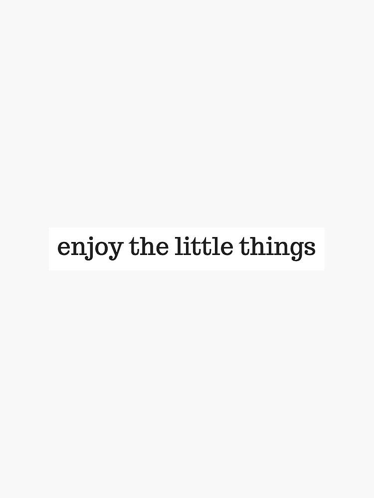 disfruta las cosas pequeñas de sarahvinton