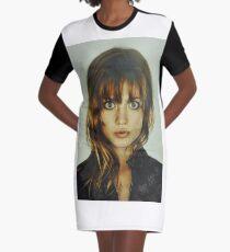big eyes girl Graphic T-Shirt Dress