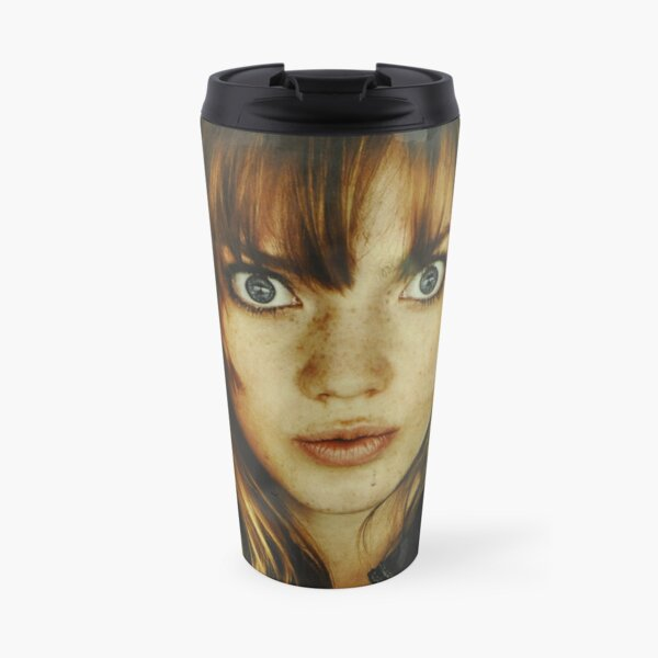 big eyes girl Travel Mug