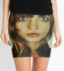 big eyes girl Mini Skirt