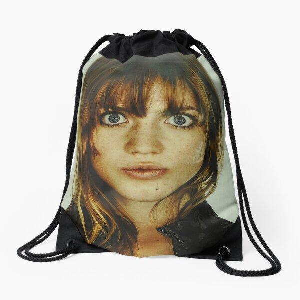 big eyes girl Drawstring Bag