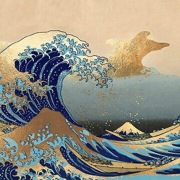 Weinlese, große Welle, Hokusai 葛 飾 北 斎 神奈川 沖浪 von PixDezines