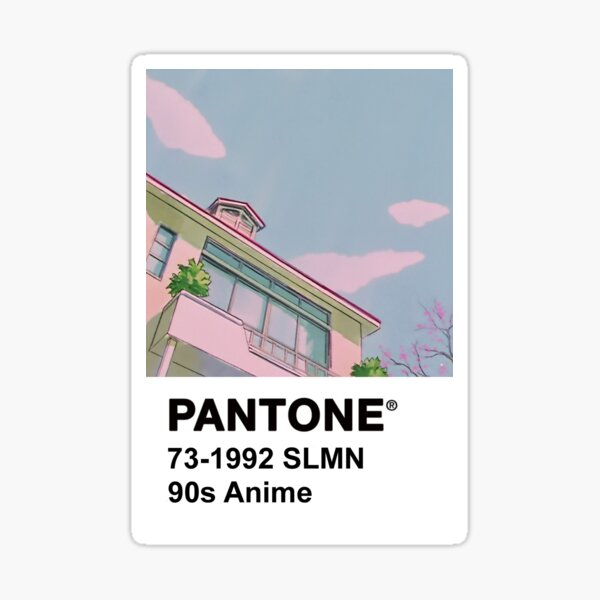 PANTONE 90s Anime Sticker