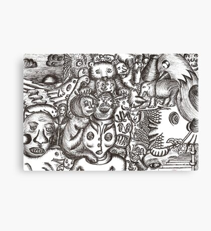 Escapees from the mind Canvas Print
