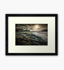 Moody Three Cliffs Bay Gower Framed Print