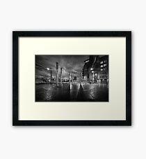 Swansea city centre at night Framed Print