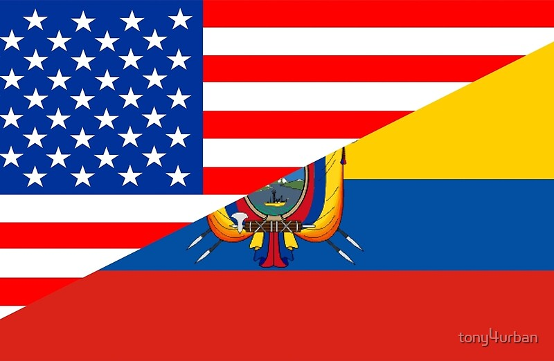 Usa Ecuador Flag Laptop Skins By Tonyurban Redbubble - Ecuador flags