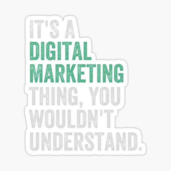 Digital Marketing Career Internet Social Media Sticker