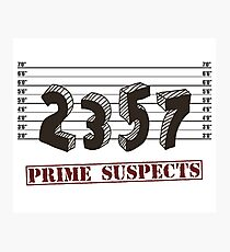 The Prime Number Suspects Photographic Print