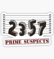 The Prime Number Suspects Sticker