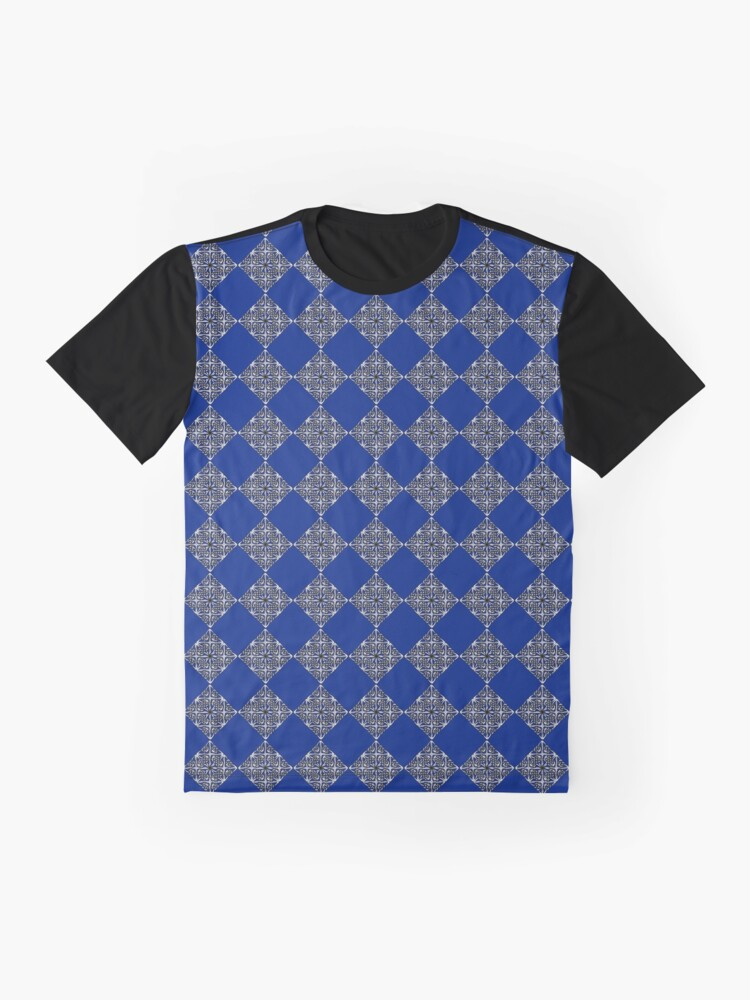 Alternate view of Blue & Silver Diamonds Graphic T-Shirt