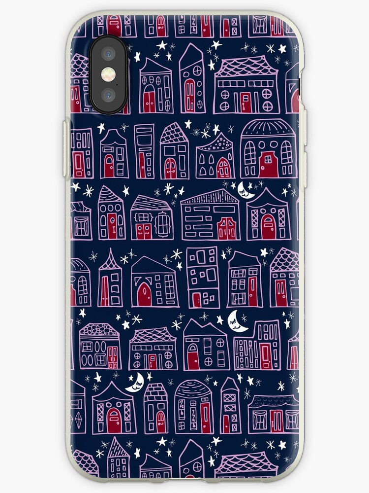 Starry Night in the City - Navy & Orchid by ZirkusDesign