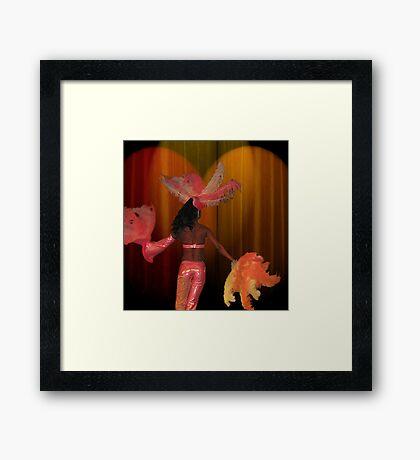Fan Dancer Framed Print