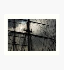 Cutty Sark Masts and Rigging Art Print