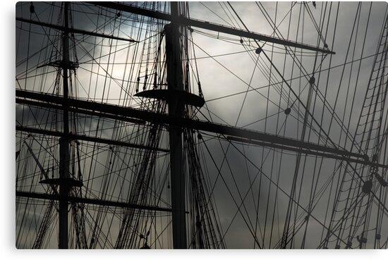 Cutty Sark Masts and Rigging by Roberto Herrett