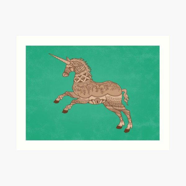 A Weird and Wonderful Unicorn Art Print