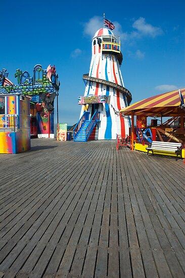 Brighton Pier Funfair by Roberto Herrett