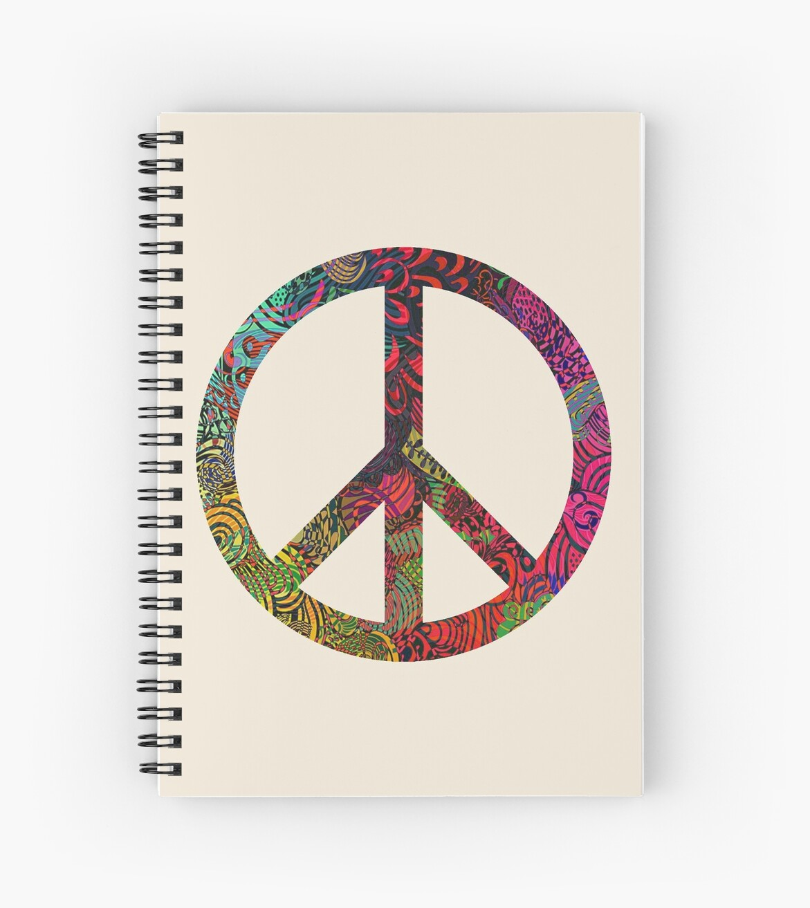 Flower Power Peace Symbol Spiral Notebooks By Ice Tees Redbubble