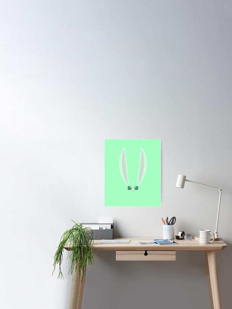 Point De Croix Motif Codé Par Couleur Tableau X Stitch De Pâques Avec Oreilles De Lapin Pixel Art Motif Stitch Able Poster