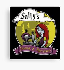 Sally's Sewing Canvas Print