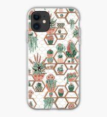 hexagon geometric pattern, 2020, cacti garden, Cacti and Succulent Garden iPhone Case